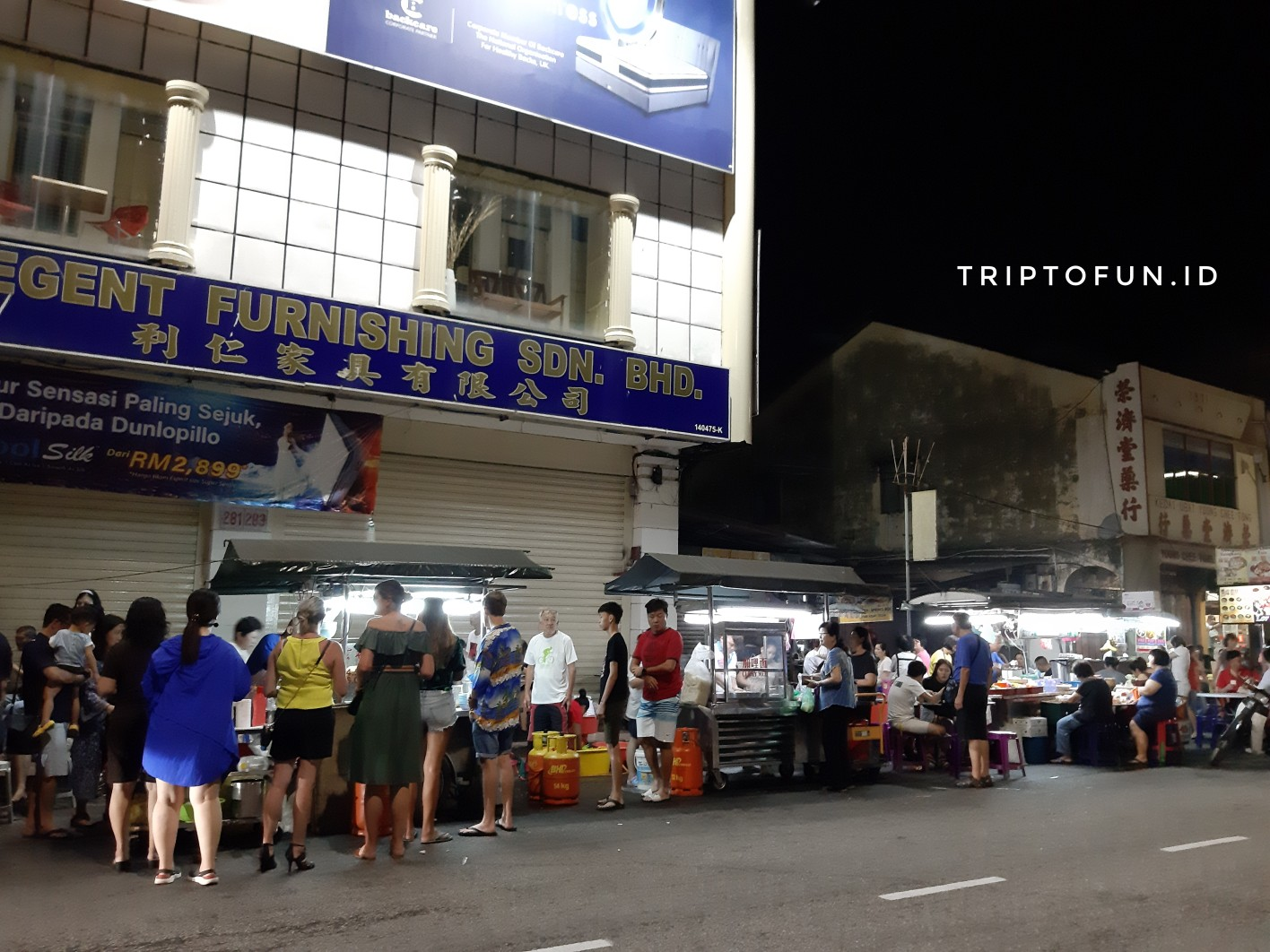chulia street night stall hawker