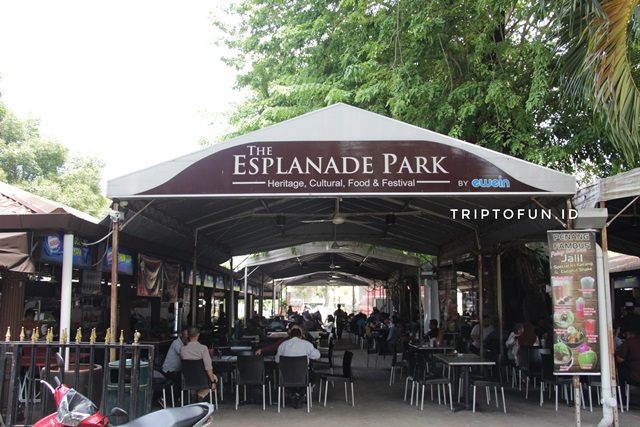 esplanade park food court penang