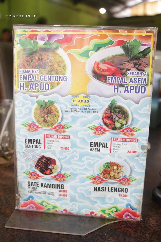 harga menu empal gentong haji apud