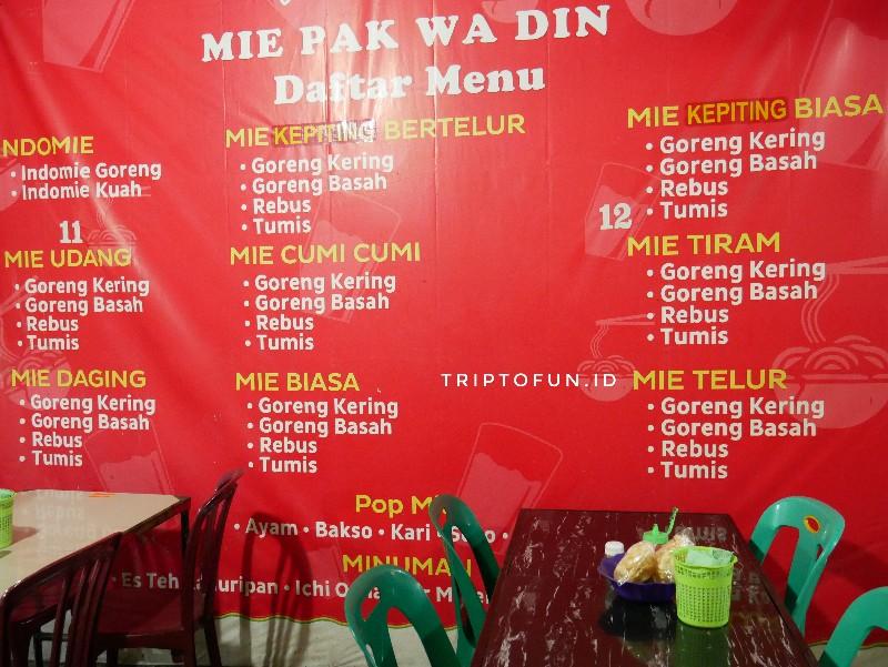 menu di kedai mie aceh pakwa lhokseumawe